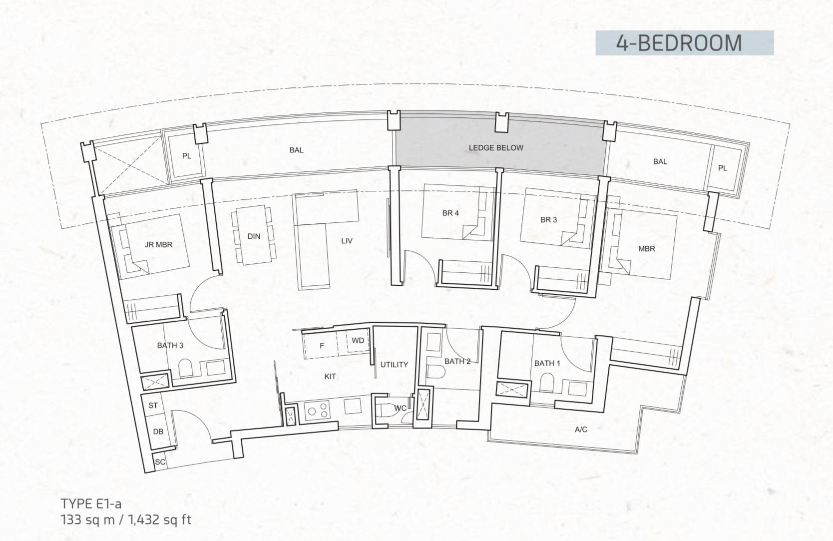 One Pearl Bank Typical 4 Bedroom