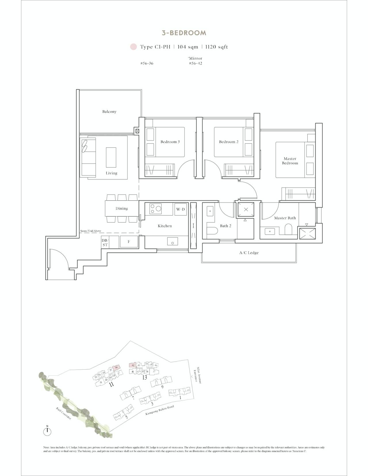 Avenue South Residence Typical 3 Bedroom